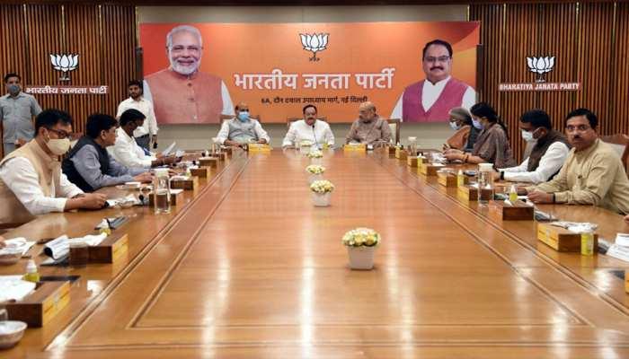 Delhi: 5 राज्यों में विधान सभा चुनाव से पहले BJP का महामंथन, गृह मंत्री समेत कई नेता हुए शामिल