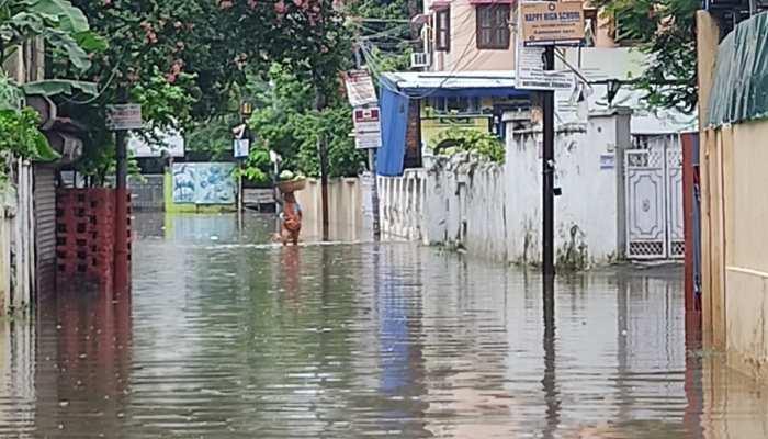Patna waterlogging seen rain water enter in deputy cm renu devi nand kishore yadav house see photos