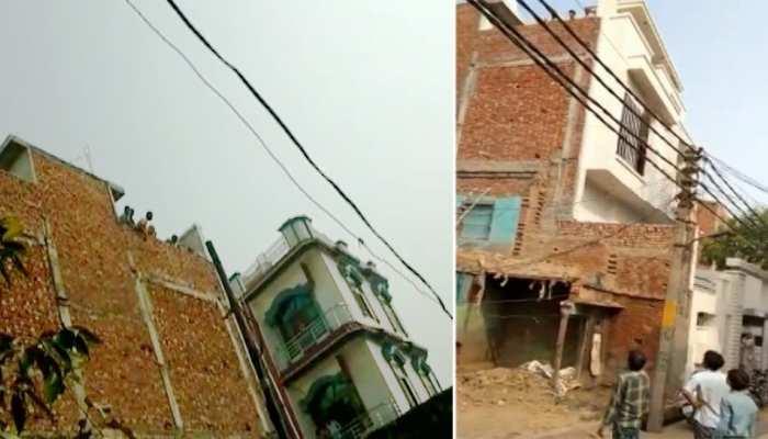 मकान निर्माण के दौरान दो पक्षों के बीच कहासुनी के बाद पथराव और बवाल, तीन लोग घायल