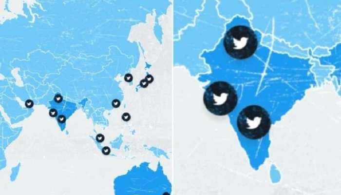 Twitter ने फिर की भारत के नक्शे से छेड़छाड़, जम्मू-कश्मीर और लद्दाख को दिखाया अलग देश