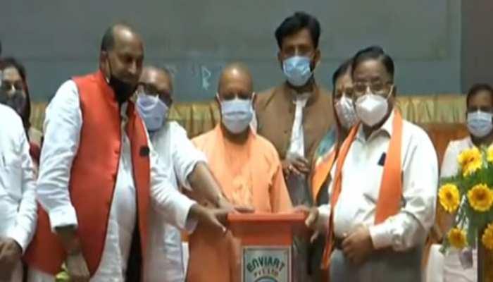 CM योगी ने किया पंपिंग स्टेशन का लोकार्पण, 32 हजार आबादी को मिलेगी बाढ़ से निजात
