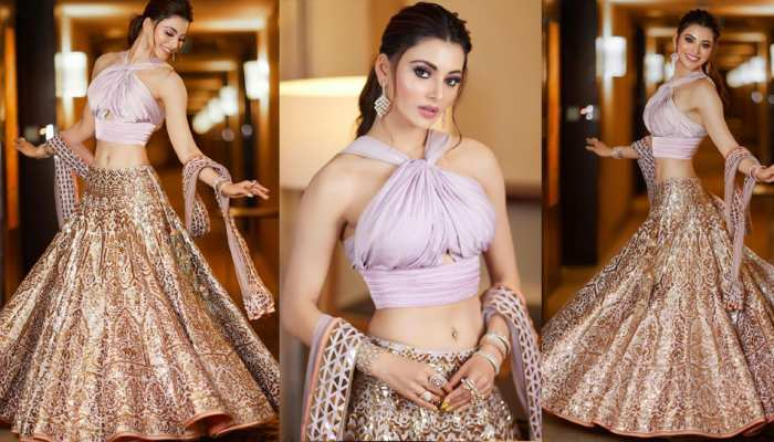 Urvashi Rautela wore a lehenga with a bold choli, take a look at her looks