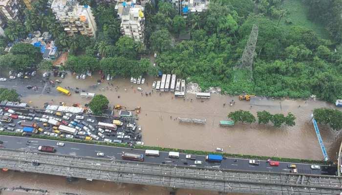 Mumbai Rain Due to heavy rains in Mumbai water filled many areas see photos