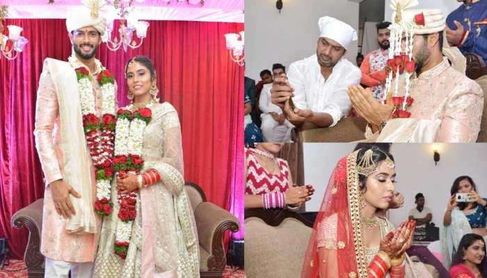 इस भारतीय क्रिकेटर ने अपनी लॉन्ग टाइम गर्लफ्रेंड से रचाई शादी, दुआ मांगते नजर आए दूल्हा-दुल्हन