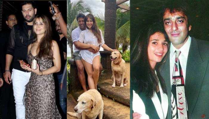 Yuvraj Singh Ex girlfriend Kim Sharma affair with Leander Paes who live in with Sanjay Dutt Wife Rhea Pillai