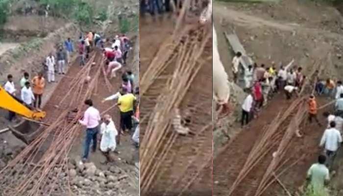 निर्माणाधीन पुल का हिस्सा मजदूरों पर गिरा, मलबे के नीचे दबने से एक की मौत, दूसरा घायल