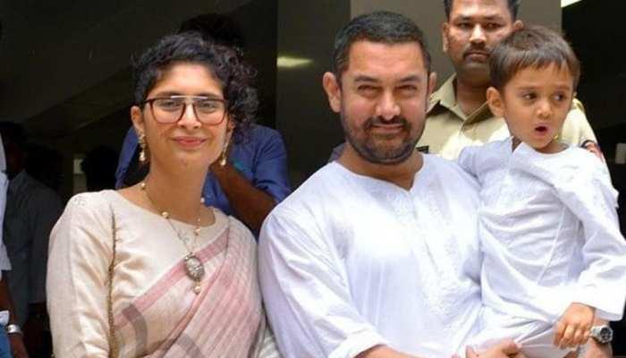 Aamir Khan playing Table Tennis with Kiran Rao on Laal Singh Chaddha Set Son Azad