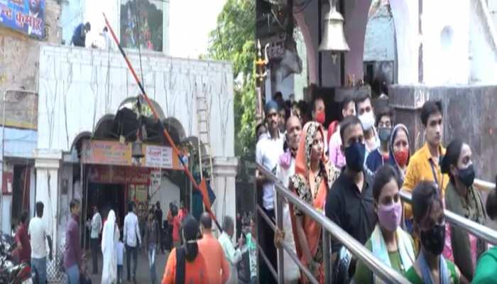 कानपुर: सावन के पहले दिन शिवालयों में उमड़े भक्त, कोविड नियमों का पालन करते हुए किया जलाभिषेक