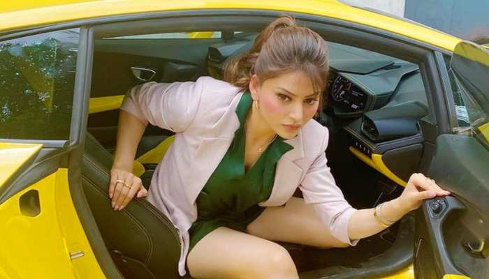 urvashi rautela is so tall that she got trapped in lamborghini shares photos on instagram