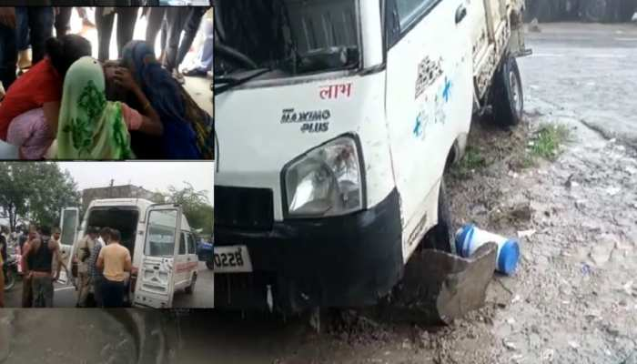 महोबा में बड़ा सड़क हादसा, पिकअप-ट्रक की सीधी टक्कर में दो मजदूरों की मौत, कई घायल