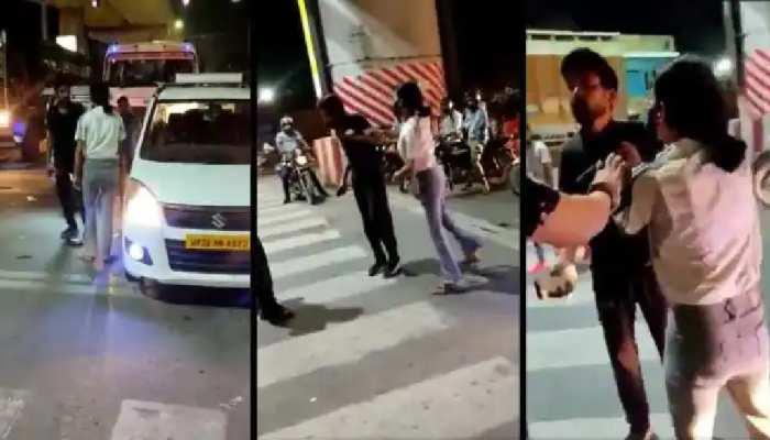 VIDEO: लखनऊ में CCTV फुटेज ने खोली तमाचे वाली लड़की की पोल, कैब ड्राइवर निकला बेकसूर