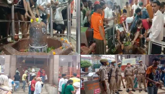 भगवान शिव के जयकारों से गूंजा ऐतिहासिक परशुरामेश्वर महादेव मंदिर, जलाभिषेक को उमड़े श्रद्धालु