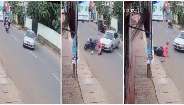 Viral Video: तेज टक्कर के बाद उछलकर गिरी लड़की, CCTV कैमरे में रिकॉर्ड हुआ हादसा