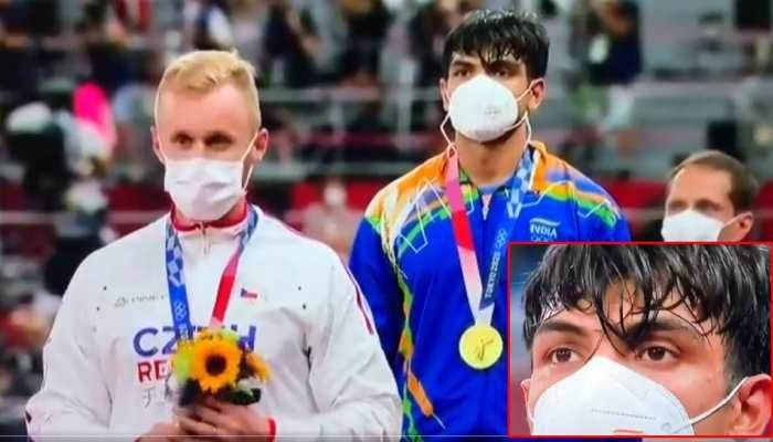 जन गण मन बजते ही रोने लगे Neeraj Chopra, आंखों में साफ दिखाई दिए आंसू, देखिए VIDEO