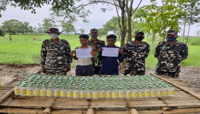 Bettiah: SSB जवानों की बड़ी कार्रवाई, भारी मात्रा में अवैध शराब के साथ दो तस्कर गिरफ्तार