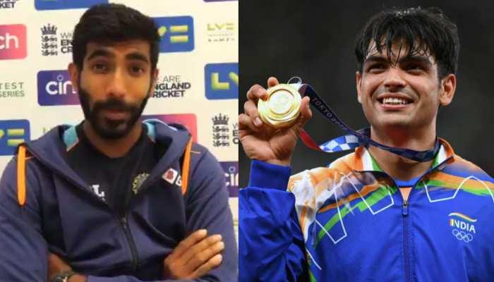 Neeraj Chopra के Gold जीतने पर जश्न में डूबी टीम इंडिया, Jasprit Bumrah से सुनिए आंखों देखा हाल