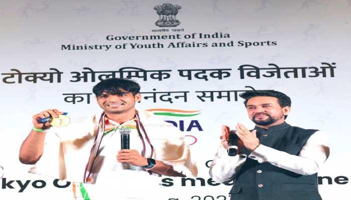 ओलंपिक के पदकवीरों का दिल्ली में हुआ सम्मान, खेल मंत्री बोले- नीरज ने मेडल ही नहीं दिल भी जीता