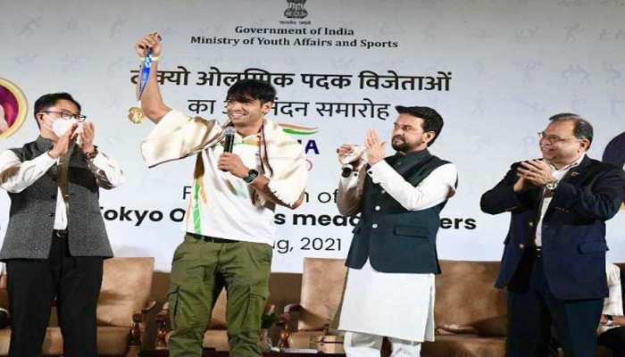 भारतीय पदकवीरों का स्वागत करते हुए खेलमंत्री ने कही बड़ी बात