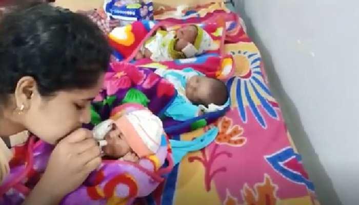 सावन के सोमवार पर मिला भोले का प्रसाद: महिला ने तीन बेटों को दिया जन्म, नाम रखा 'जय-शिव-शंकर'