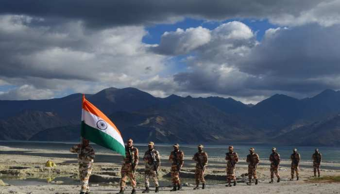 ITBP soldiers celebrate Independence Day at the banks of Pangong Tso in Ladakh see images