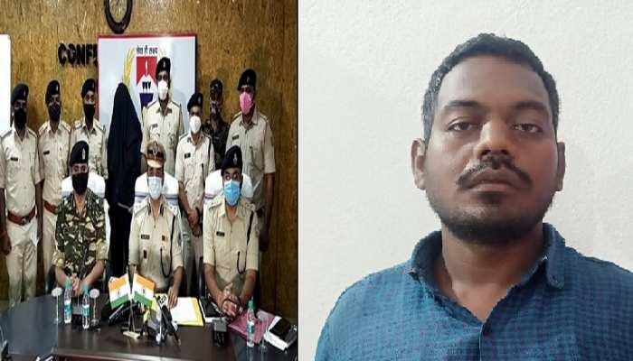 चतरा में पुलिस के फंदे में फंसा 'आजाद', 15 लाख का इनामी नक्सली रमेश गंझू गिरफ्तार