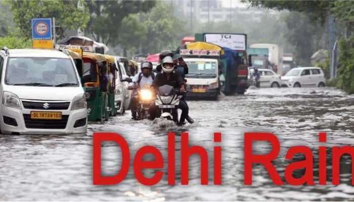 दिल्ली-NCR  में जमकर बरसे मेघ, सड़कों पर जलजमाव और यातायात बाधित