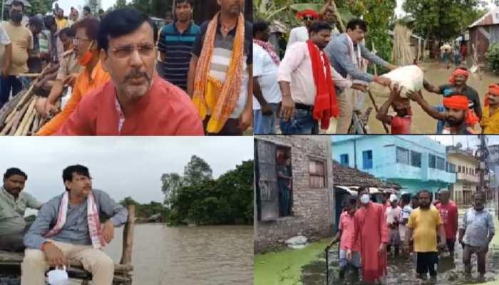 साहिबगंज में बाढ़ राहत सामग्री को लेकर सियासत, बीजेपी विधायक अनंत ओझा की श्वेत पत्र जारी करने की मांग