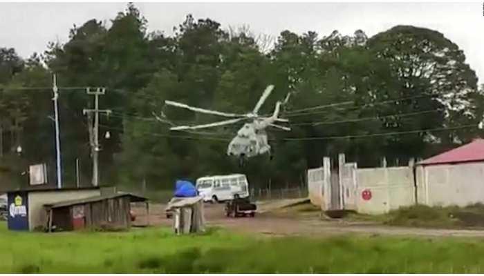 Viral Video: मैक्सिको में क्रैश हुआ हेलिकॉप्टर, कार से टकराते ही उड़े परखच्चे