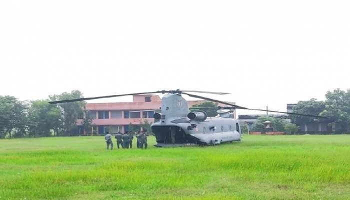 बक्सर: ठीक होने के बाद चिनूक विमान ने भरी उड़ान, अधिकारियों ने ली राहत की सांस