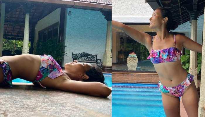 Milind Somans wife Ankita Konwar gave hot poses in bikini, photos raised internet temperature
