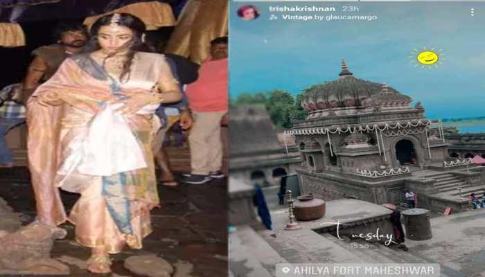 महेश्वर में मणिरत्नम की फिल्म की शूटिंग शुरू, अभिनेत्री तृष्णा कृष्णन की एक गलती से हो रहा जमकर बवाल