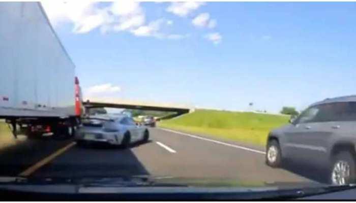 Viral Video: ड्राइवर की अक्लमंदी से टला गंभीर हादसा, हाईवे पर हो जाता खून ही खून