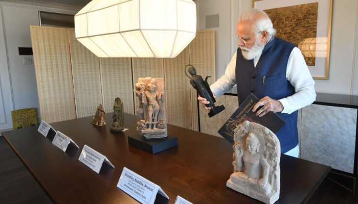 Indian PM Narendra Modi brings home 157 artifacts & antiquities from the US handed over by Joe Biden Admin