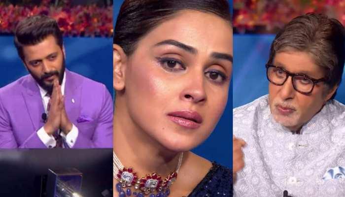 अमिताभ बच्चन के सामने रो पड़े Riteish Deshmukh और Genelia D'Souza, ये है वजह