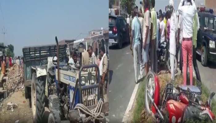 संभल: बदायूं-दिल्ली हाइवे पर अनियंत्रित ट्रैक्टर ने 7 को रौंदा, 1 की मौत, 6 की हालत गंभीर