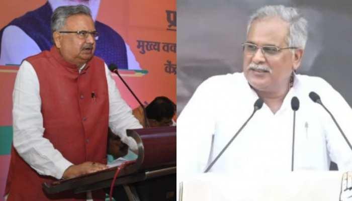 पूर्व सीएम रमन सिंह का CM भूपेश बघेल पर तंज़, कहा 'जब नाश मनुज पर छाता है, पहले विवेक मर जाता है'