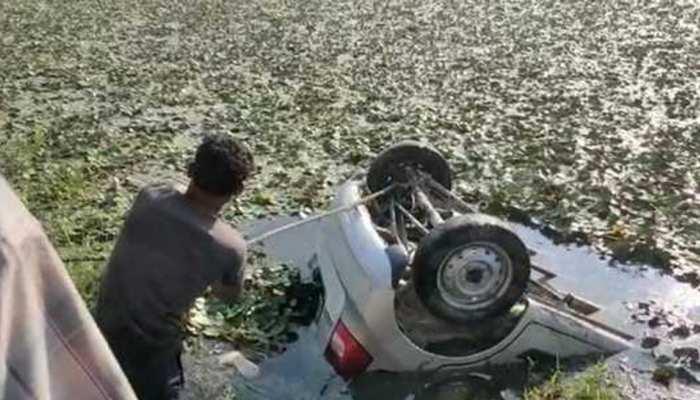 Bijnor Road Accident: शादी समारोह से लौट रहे युवकों की कार तालाब में पलटी, चार की दर्दनाक मौत, 3 घायल