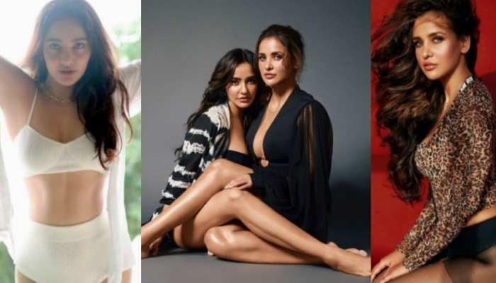 Actress Neha Sharma and sister her sister Aisha sizzles the internet in bold look photos viral
