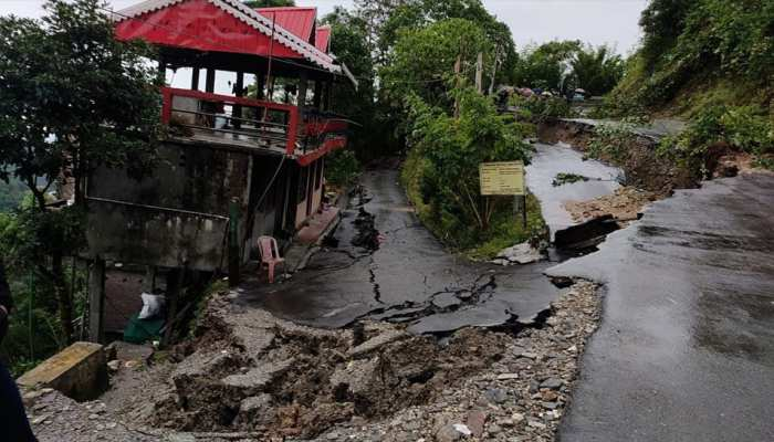 National Highway 10 collapsed due to landslide in west bengal heavy rain uttarakhand kerala flood see images