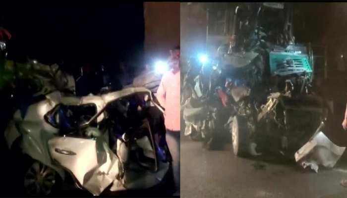 मुंबई-आगरा हाईवे पर भीषण सड़क हादसा, टकराईं 7-8 गाड़ियां; 3 की मौत, कई लोग अंदर फंसे